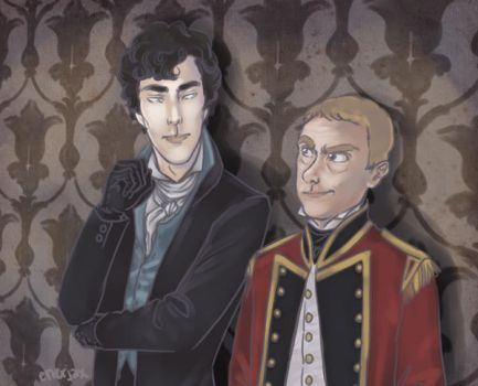 Sherlock Pride and Prejudice AU by applejaxshii