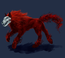Blood wolf by darndragon