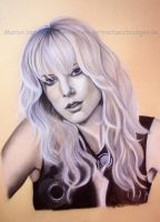 Charlize Theron III by WitchiArt