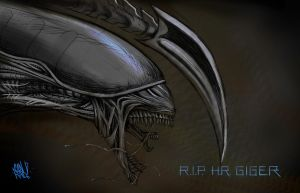 A tribute to H.R. Giger by c0nr4d