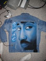 airbrushed tupac jacket by NeoGzus