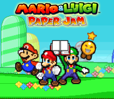 Mario and Luigi Paper Jam - Poster (My Version) by KingAsylus91