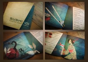 Sushi menu by nadinefaour