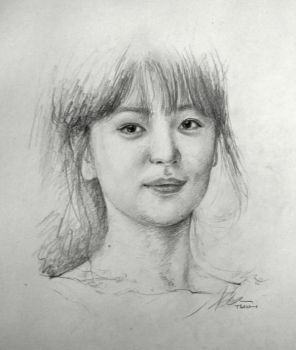 Song Hye Kyo Sketch by SongDuong