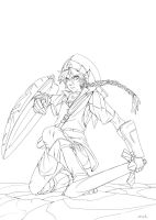 Link line art by NoirSoldat