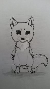 Chibi wolf by LearaWolf
