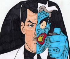 Two Face  The Animated Series by JokerfiedCrane