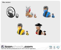 Mortal Kombta web icons by Iconshock