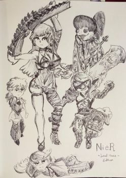The Loud House - Nier Edition! by pikapika212