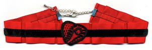 Red and Black Heart Choker by Wabbit-t3h