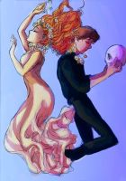 Hamlet and Ophelia by pebbled