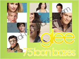 75 Glee Icon bases by Astral-17