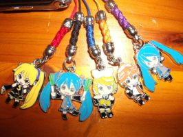 All My Phone Charms XD by Miku-Nyan02