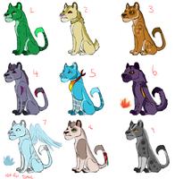Adoptable Lionesses by Sipper-Paws