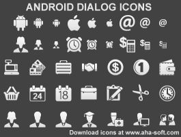 Android Dialog Icons by Ikonod