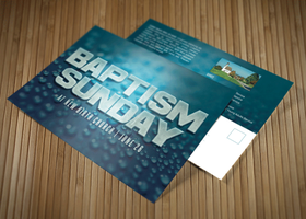 Baptism Sunday Church Postcard by loswl
