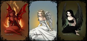 The Wicked The Light and The Fallen by katerinaaqu