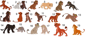 FREE !!!!!!!!!!!!!!!!! lion cub adoptables 12 by knowitall123-adopts