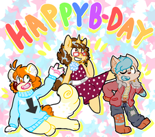 happy late (or early) birthday guys!!!! by catkiddo69