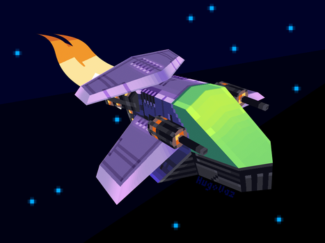 Low Poly Spaceship by DUCKAZOID