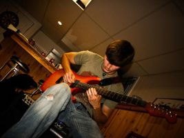 Pat on guitar by Keith-D