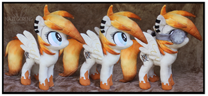 Trade: Blazing Gear OC Custom Plush by Nazegoreng