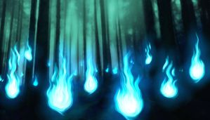 SPIRIT FLAME FOREST by Syker-SaxonSurokov