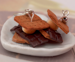 S'mores Earrings by DeliciousTrickery