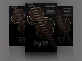 Jazz and Blues Strings Concert Poster by soulmemoria