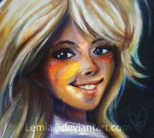 Acrylic Blonde by LemiaCrescent