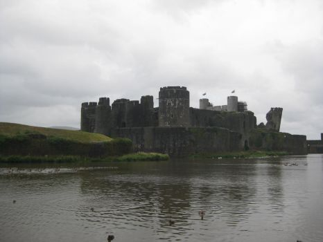 Caerphilly Castle 12 by Hrivalasse-stock