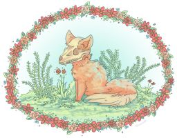 Fox Skull by Pinrescent