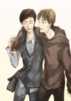 young Arthur and young Eames by resave