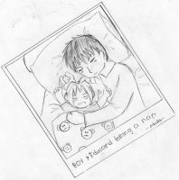 roy and lil' ed taking a nap by Natsumi726