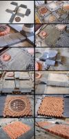 Domus project 67-68-71-98: Brick and stone floor by Wernerio