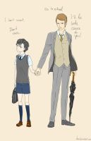 Little Sherlock with Mycroft by Dver