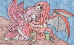 KnuxAmy Protect the butterfly by SamCyberCat