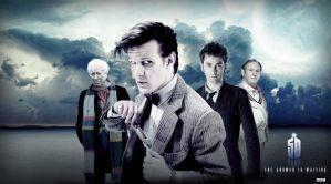 DOCTOR WHO 50TH POSTER BANNER by Umbridge1986