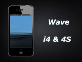 Wave iPhone 4S Wallpaper by biggzyn80