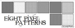 Eight Pixel Patterns by xLovely-Pixels