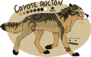Coyote Auction! -CLOSED_ by iCaitlynn