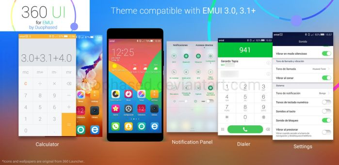 360 UI -EMUI Theme- by Duophased