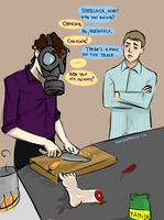 Sherlock: Cooking. by punkypeggy