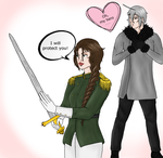 The prince and the warrior (Nyo!Lietbel) by Anoushka-Volga
