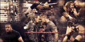 Triple H vs Randy Orton by LittleOmig