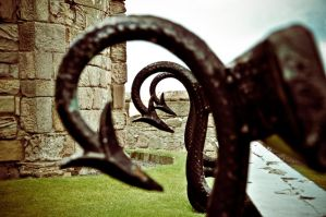 Seat At Bamburgh Castle by scribbleXcore