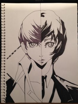 Persona 3 and 4 Protagonist by KingdomHeartzLover