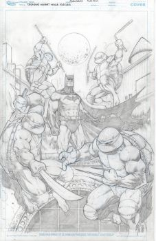 Pencils Tmnt Batman by Sajad126