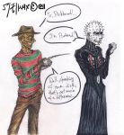 Freddy vs Pinhead colored by CyberII