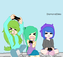 playing them video games by YaoiFanDrawer13